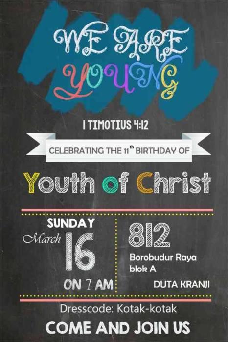Ibadah Ucapan Syukur dan Perayaan Ultah Youth of Christ