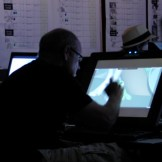 Glen drawing on shots.