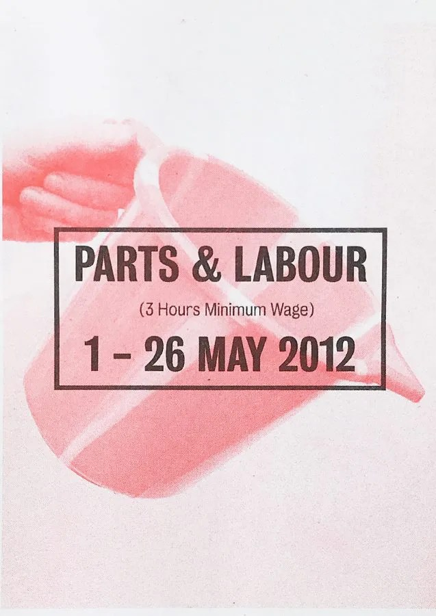 Parts and Labour - Camberwell College of Arts - London