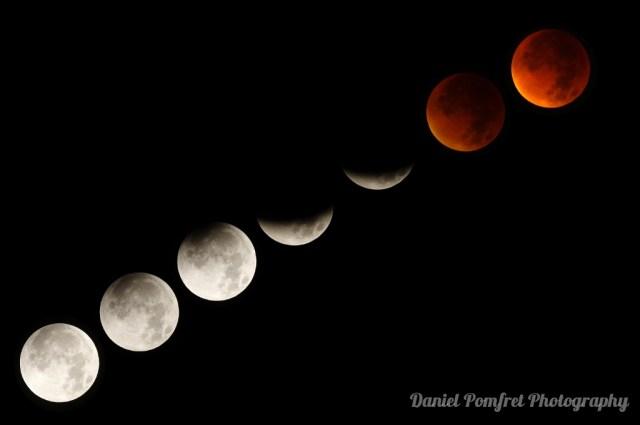 Supermoon, Lunar, Eclipse, 2015, London, UK