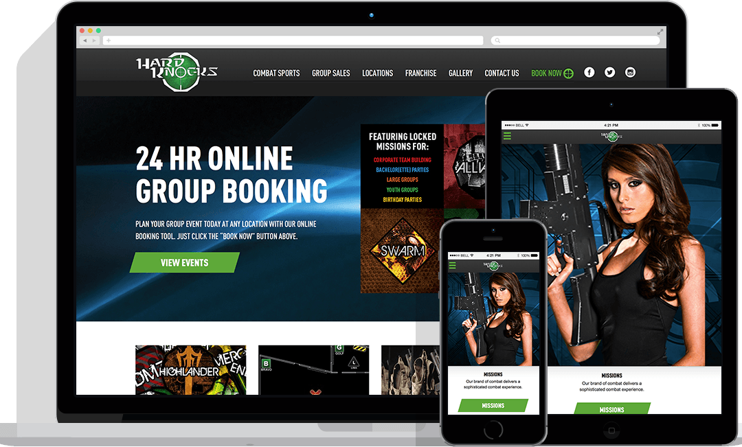 Digital Marketing Project: Hard Knocks Website Design & Build