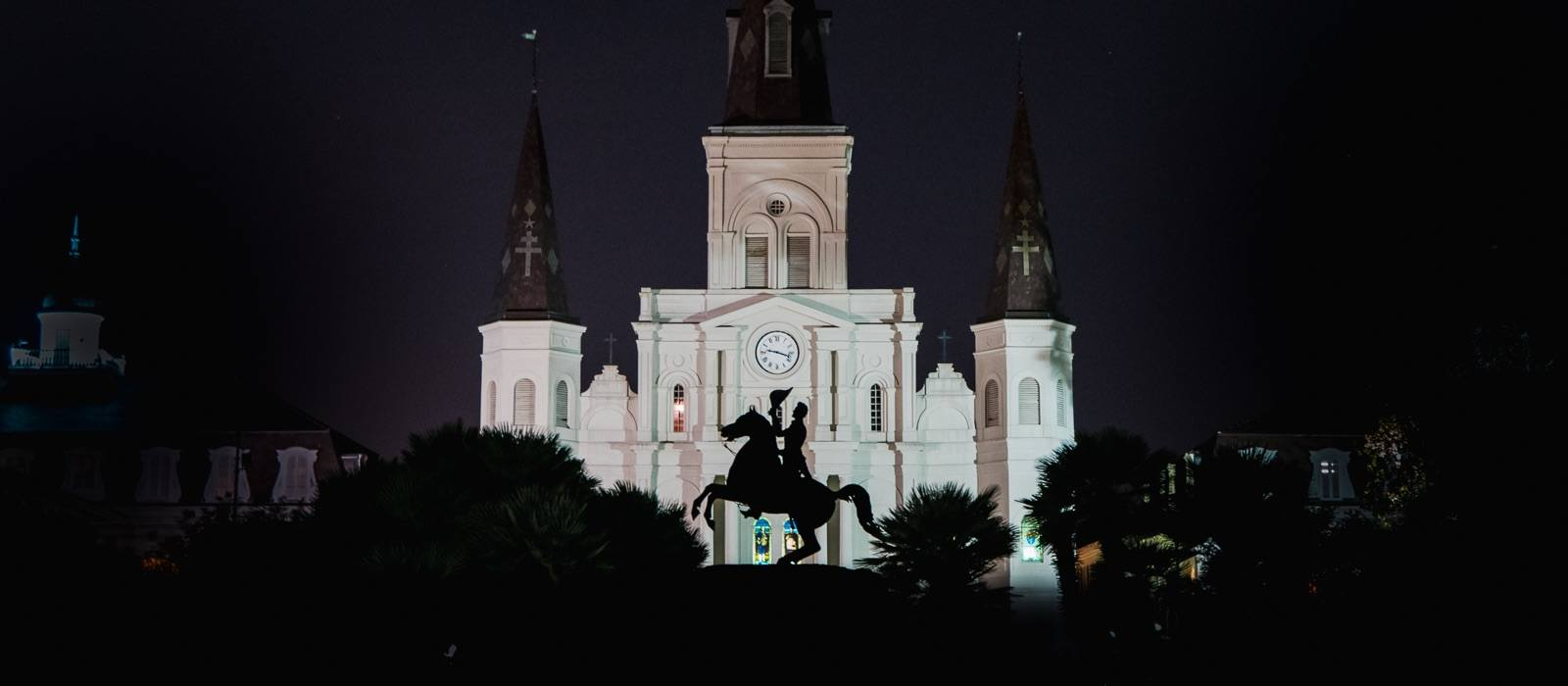 New Orleans French Quarter - Jackson Square Statue
