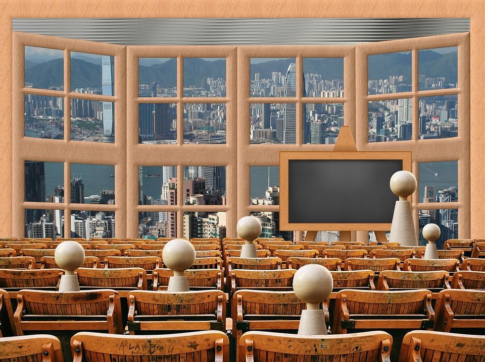 uma sala de aula