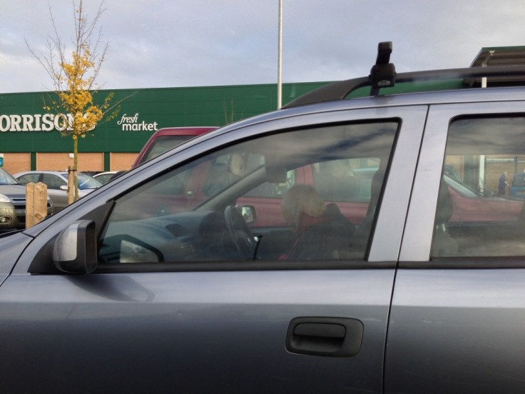 Hoping the fella in this car is asleep and not dead…