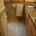 Dal tile paraiso carmella 10x10 floor with kraftmaid bathroom vanity