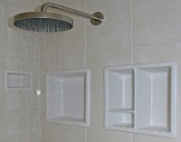 Bathroom Shower Shelves : Creative Gray Bathroom Shower ...