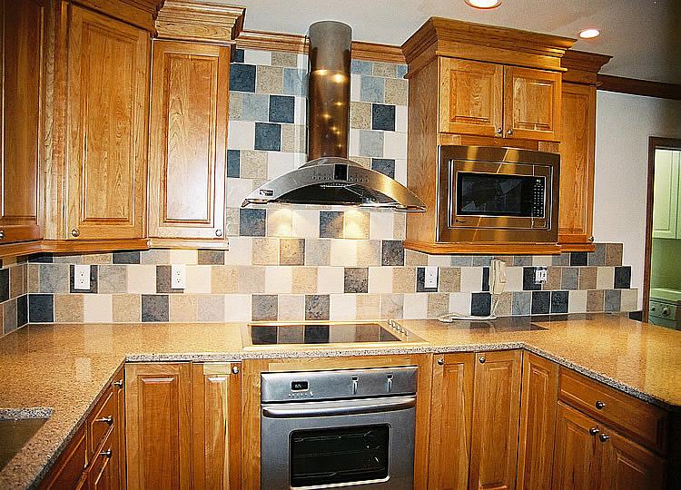 Tile Kitchen Backsplash With Natural Maple Cabinets ... on Kitchen Backsplash With Natural Maple Cabinets  id=15949