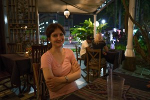 Dinner at riverside café in Kuching