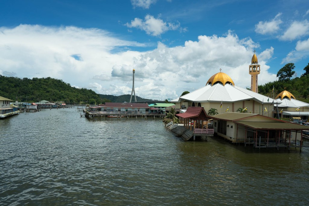 Kampong Ayer and Mosque in Brunei