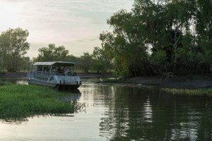 On a quiet boat through the waters at Kakadu National Park