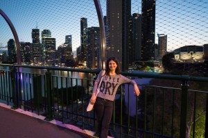 Ilinca on Story Bridge in Brisbane