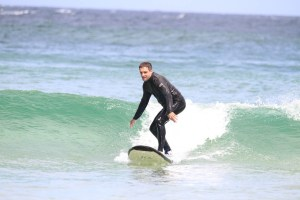 On the board at Byron Bay