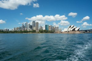 Downtown and Opera House in Sydney