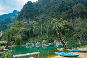 Blue Lagoon near Vang Vieng