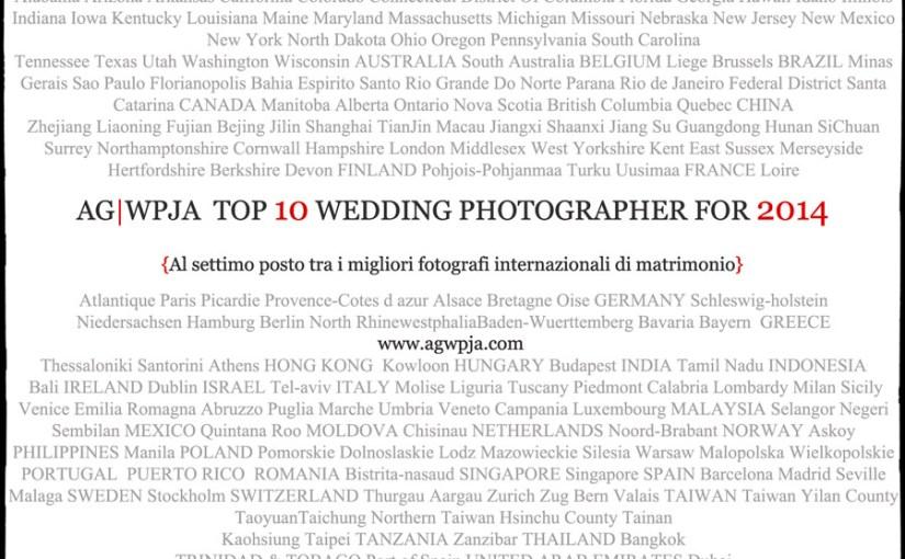 TOP WEDDING PHOTOGRAPHER AG|WPJA 2014