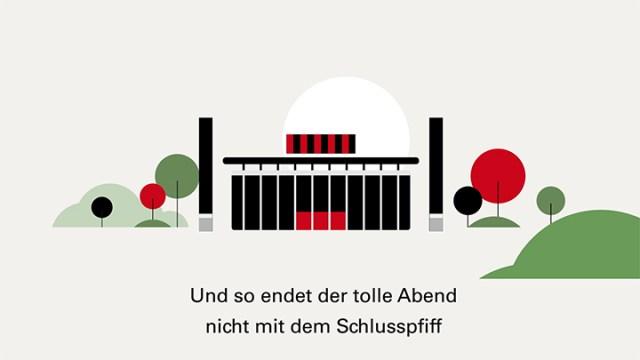 illustration of the stadium from football club Eintracht Frankfurt by Dani Montesinos