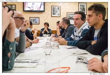 Il gruppo di sinistra con Paolo capotavola
