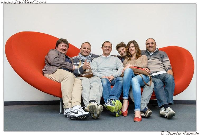 Da sinistra: Zanna Bianca - Gianluca - Danilo Ronchi - Jonathan - Gloria - Lumaz