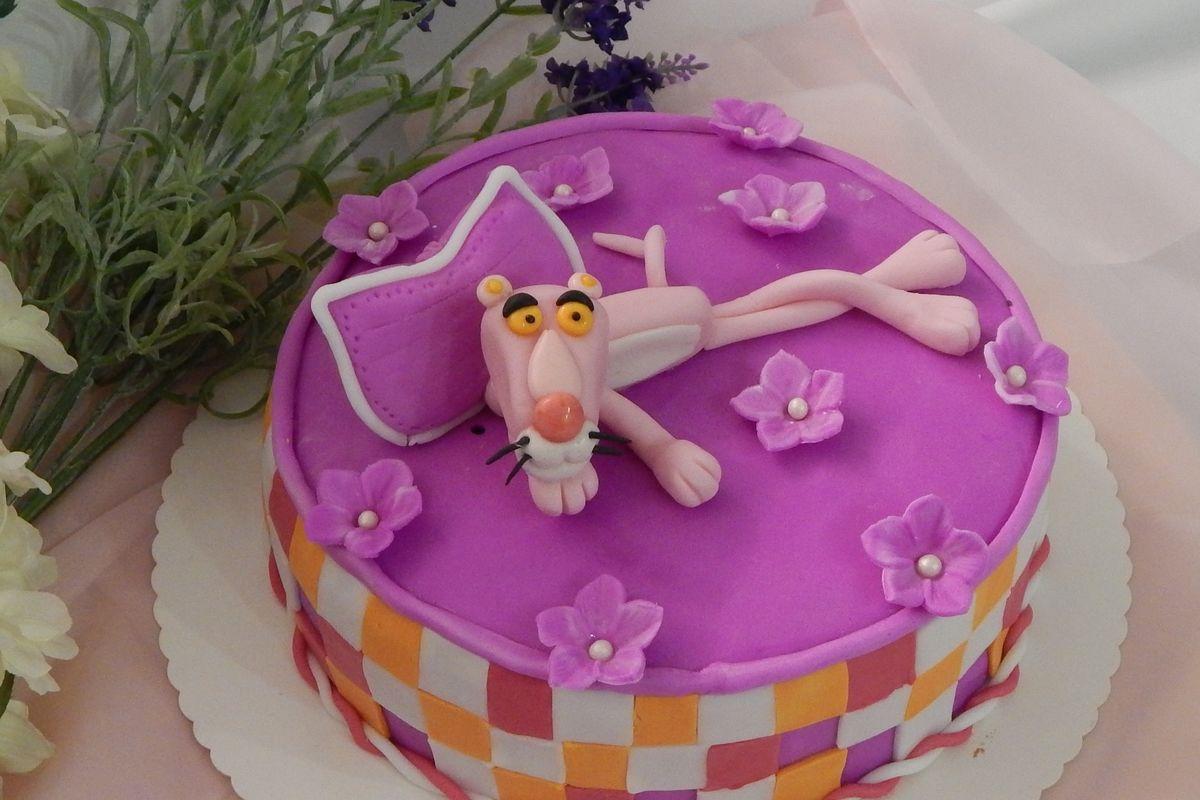 Motivtorte Pink Panther von Danis Tortenwelt