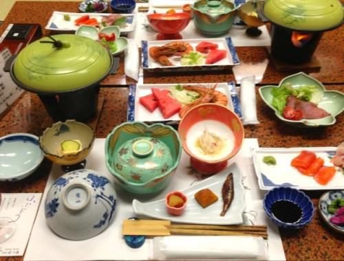 Aftensmad på Ryokan