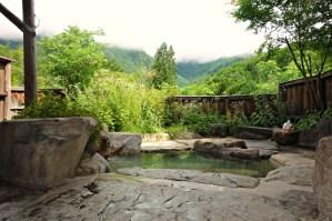 Privat onsen med udsigt