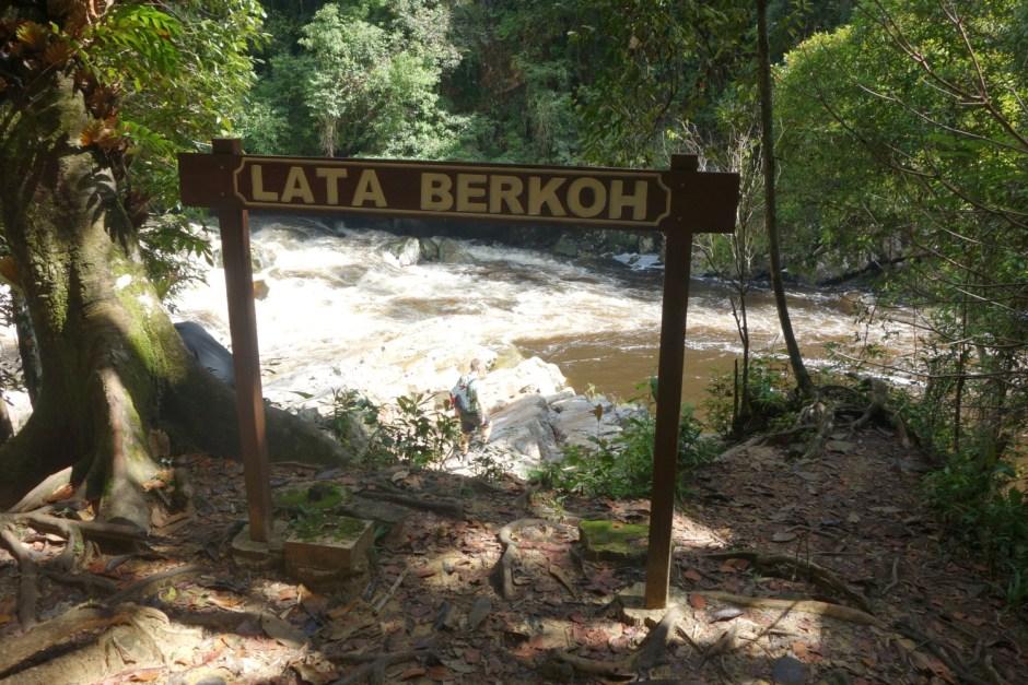 Lata Berkoh vandfald i Taman Negara National Park