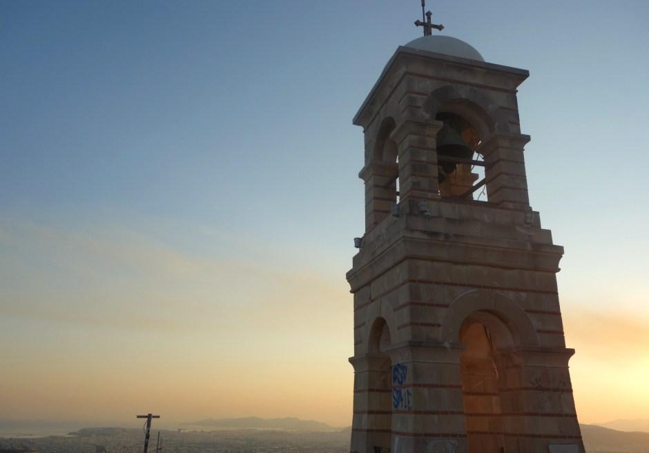Kirketårnet på Lycabettus