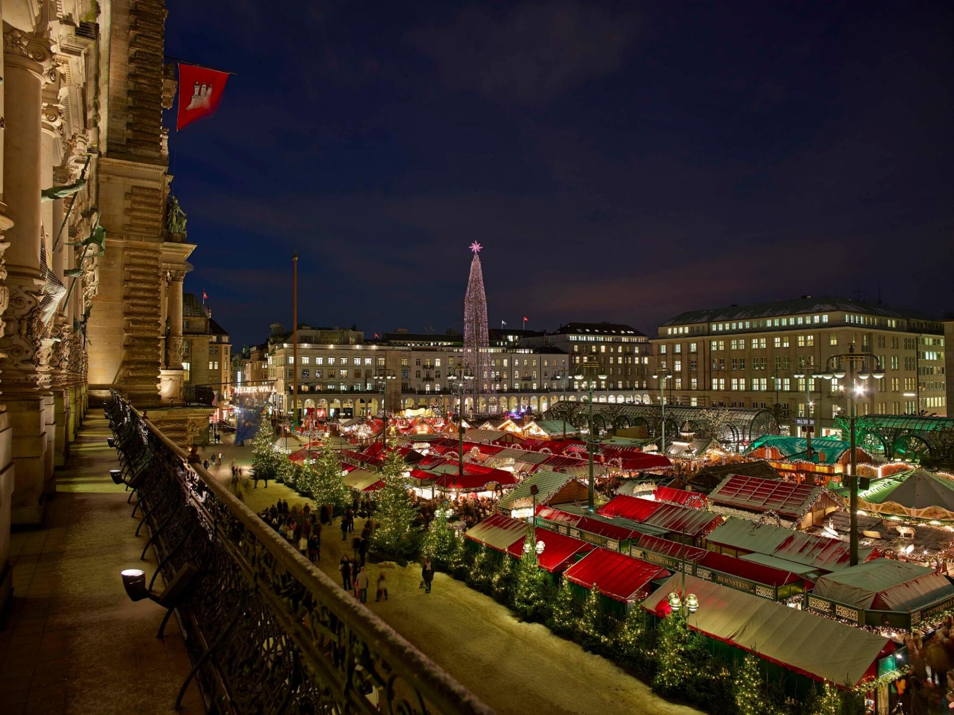 Kom med DB tog til julemarked i Hamburg