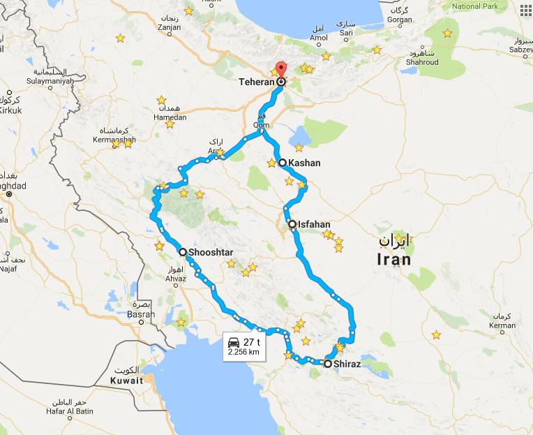 Paaskeferien gaar til Iran