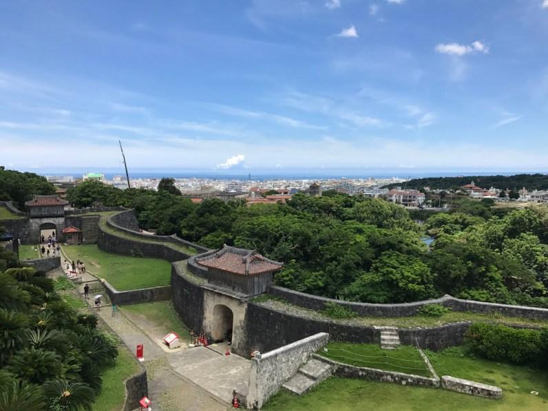 Udsigt fra palacet fra Kongeriet Ryukyu