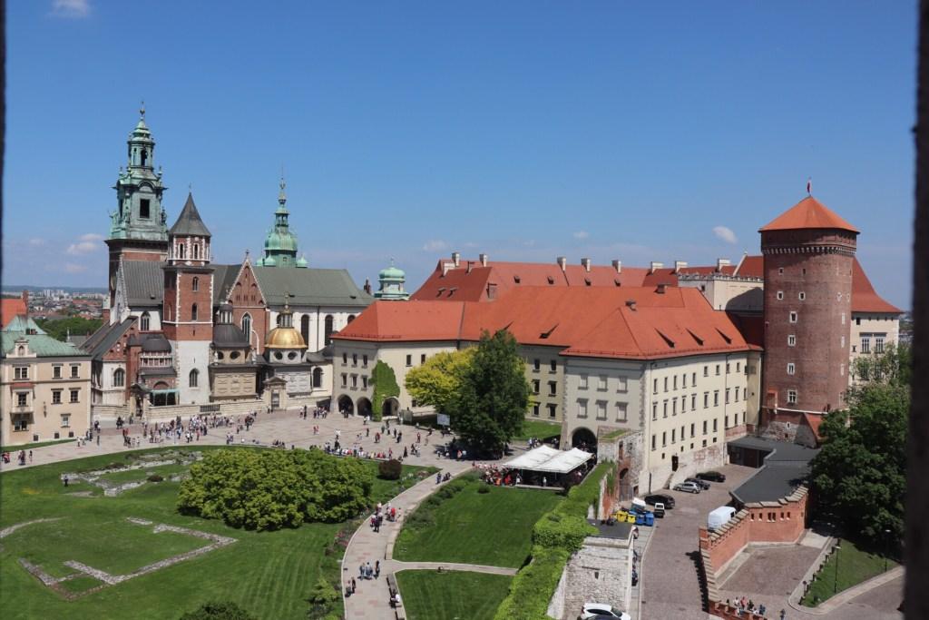 Wawel slot i Krakow i Polen