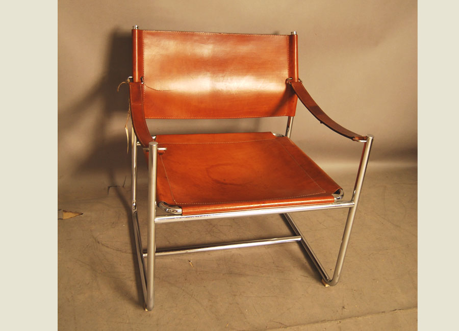 leather chrome chair rocking kits sold and vintage sling 28d051 danish