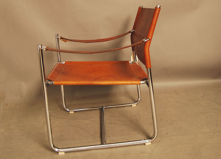 leather chrome chair cheap cover and sash hire brisbane sold vintage sling 28d051 danish