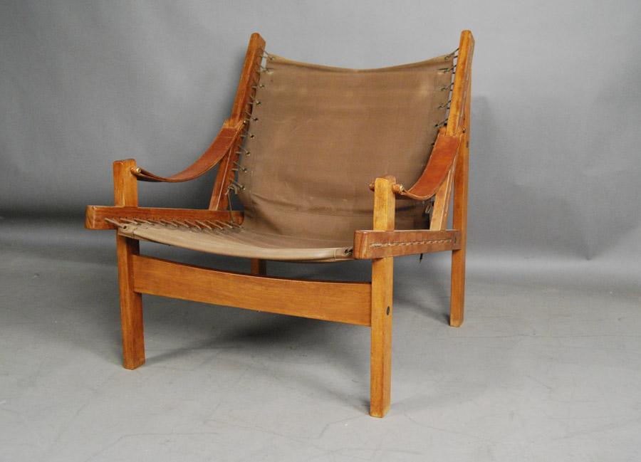 canvas sling chair bedroom nz teak and 31d127 danish vintage modern