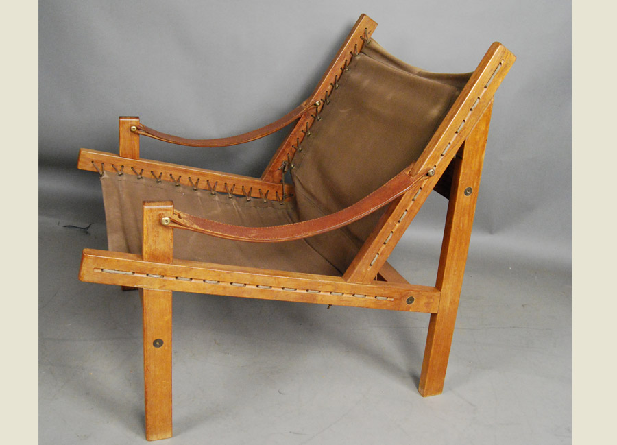canvas sling chair chef cushions teak and 31d127 danish vintage modern