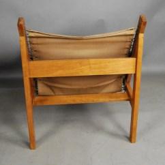 Canvas Sling Chair Folding Names Teak And 31d127 Danish Vintage Modern