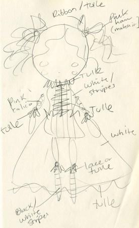 doll sketch