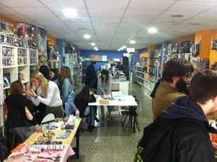 La librería Landrómina preparada para la muestra Steampunk