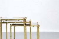 Tables Gigognes maison bagues laiton  Danke Galerie
