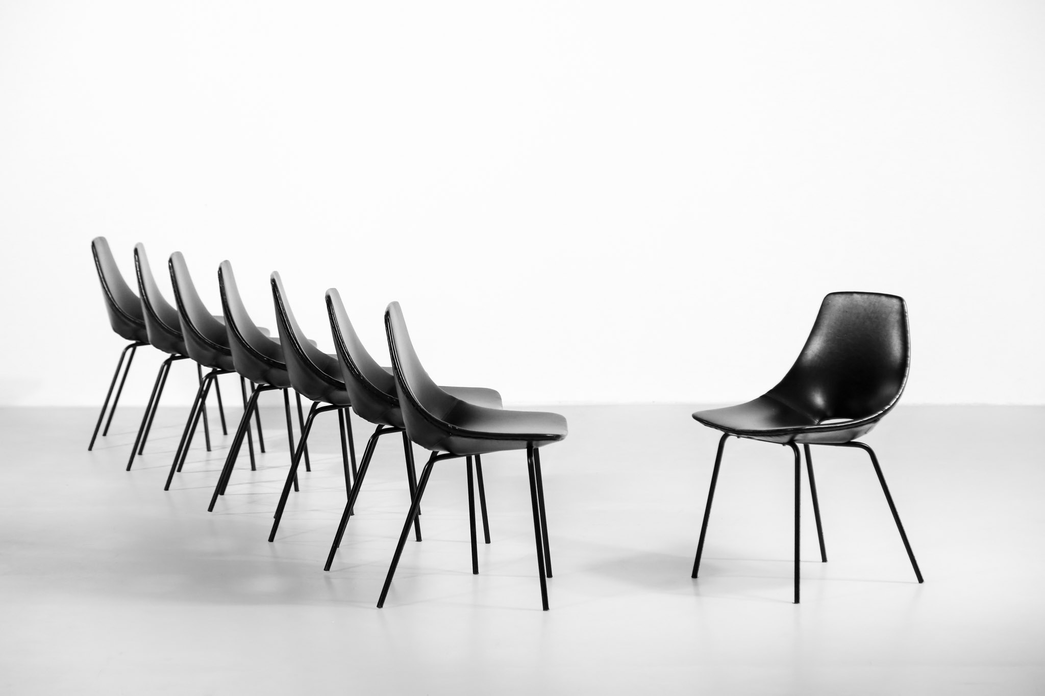 tonneau chairs by pierre guariche 16