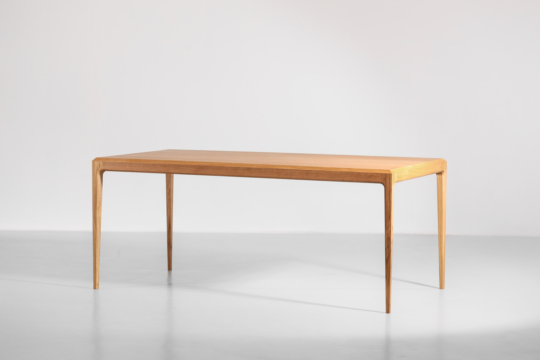 large modern table in oak scandinavian