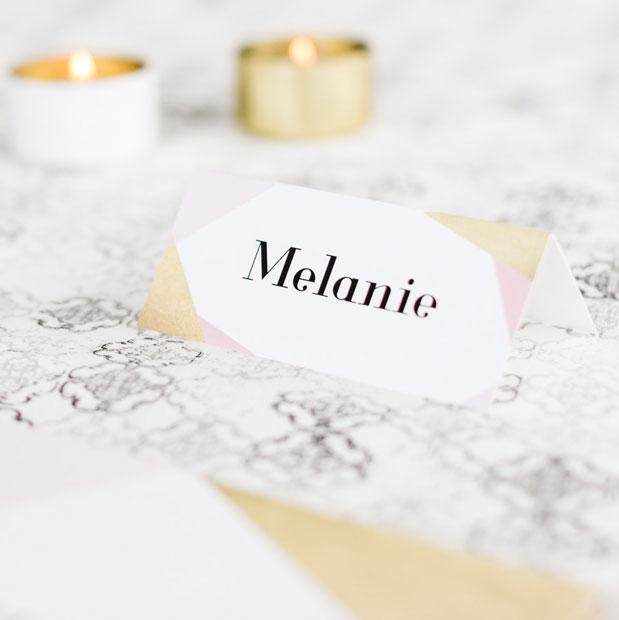 Tischkarten fr die Hochzeit online gestalten  drucken