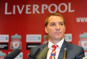 Manager Brendan Rodgers At A Press Conference for LFC