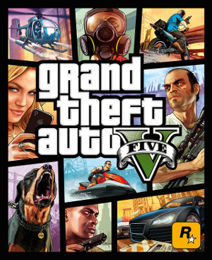 The box art for GTA V