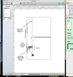 better film lighting starts with omnigraffle ipad app dan mccomb film lighting diagram app [ 1301 x 889 Pixel ]