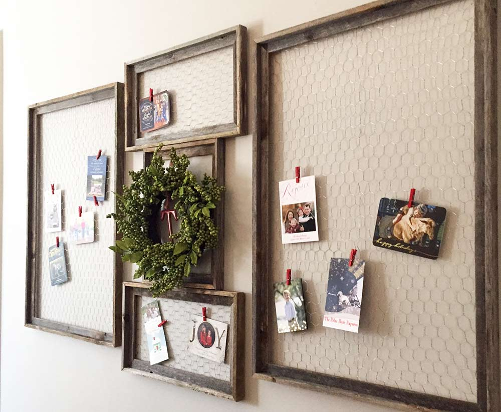 diy christmas card display • atlanta life and style blog | southern ...