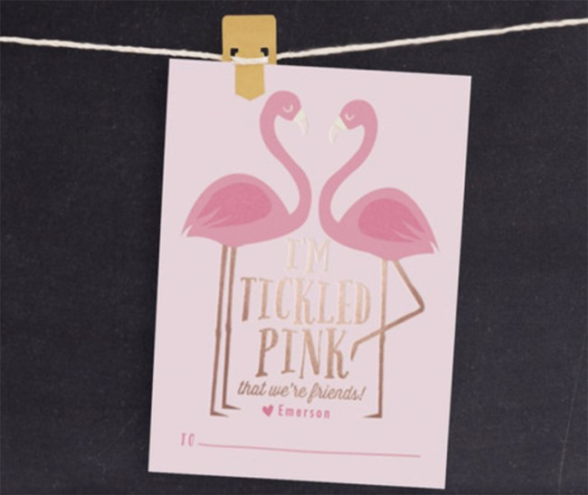 Flamingo Valentine Card