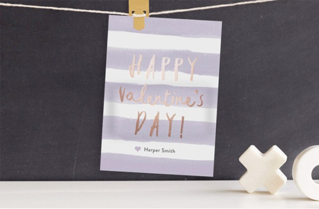 Gold foil valentines from Minted