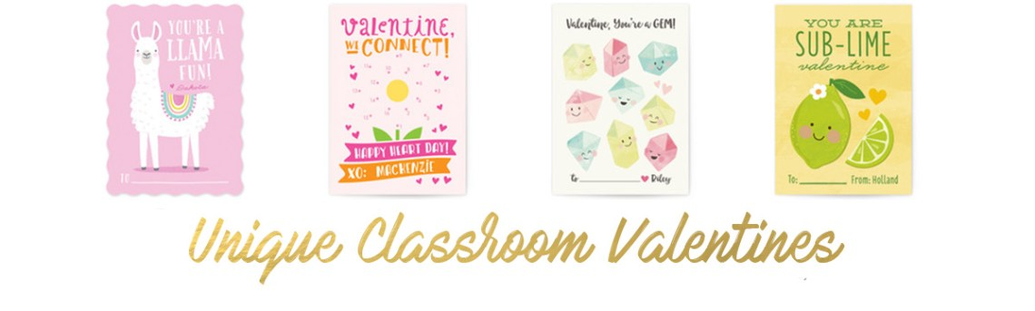 Personalized, unique classroom valentines