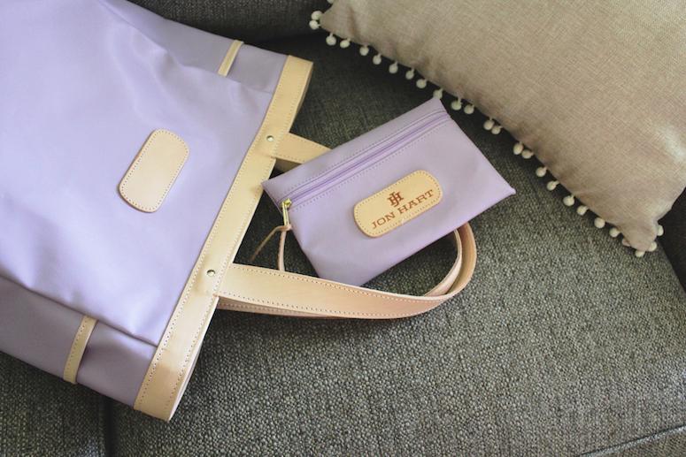 Lilac luggage from Jon Hart